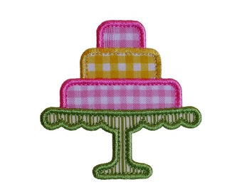 """Tiered Cake Appliques Machine Embroidery Designs Applique Pattern in 4 sizes 3"""", 4"""", 5"""" and 6"""""""
