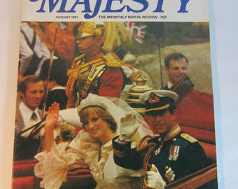 Vintage August 1981 Majesty Royal Wedding Commemorative Issue