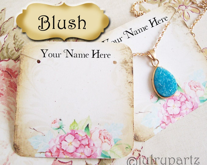 60•BLUSH•Earring Cards•Jewelry Cards•Necklace Card•Display•Earring Holder•Necklace Holder•2x2 or 3x3