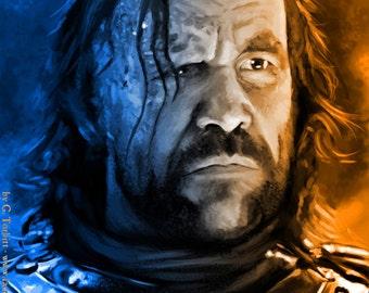 "Sandor Clegane ""The Hound"", Game of Thrones, art print"