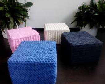 Pouf crochet wool Sitzpouf pouf