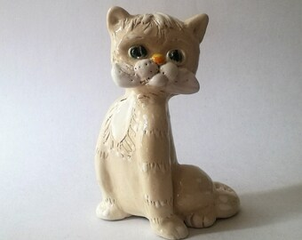 Ceramic cat figurine, White cat statue, Pottery cat figurine, Animal figurines, Ceramics Pottery, Ceramic sculpture, Cat decal, White cat