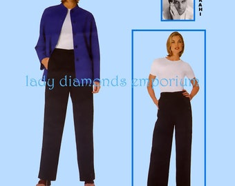 Vogue 2093 Vintage Isaac Mizrahi Loose Fitting Lined Jacket & Pants Womens sz 14 16 18 Bust 36 38 40 Easy Plus Size Sewing Pattern Uncut FF