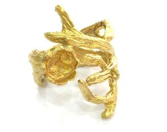 Raw Brass Adjustable Ring Blank  (8mm Blank) , Bezel Settings,Cabochon Base,Mountings G3420