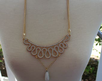 "Necklace gold for her ""white gold."