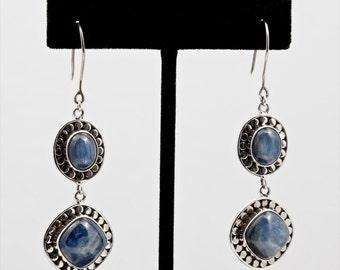 Kyanite 137 - Earrings - Sterling Silver & Kyanite