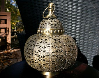 Brass Candle Holder Lantern