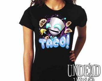 Invader Zim Robot Gir Taco  - Ladies T Shirt