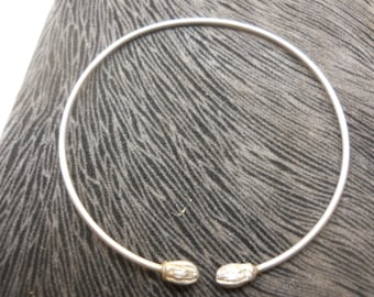 Cuff Bracelet Solid Sterling Silver Stamped 925 Vintage Silver