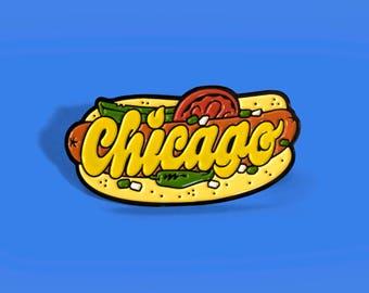 Chicago Hot Dog Enamel Pin
