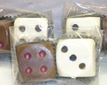 Chocolate Dice Favors bunco favors