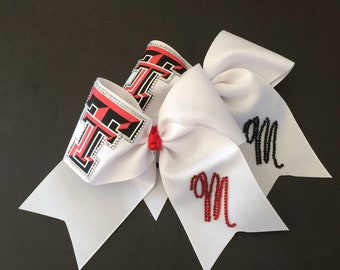 Texas Tech Cheer Bow