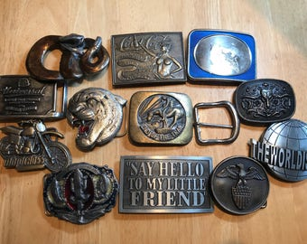 "Bergamot Great American buckle etc. Collection of 12 buckles""for spares or repairs"" please see pictures ."