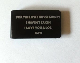 Stepfather of the bride gift, Personalized money clip, Father of the bride or groom gift, Groomsman money clip, Money clip, Money wallet