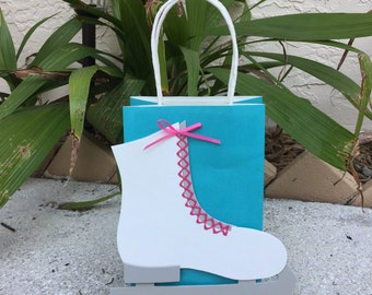 Ice Skate Birthday Party Favor Bag