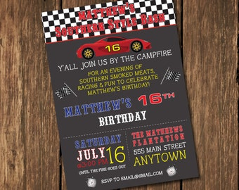 Nascar invitations etsy race car birthday invitation birthday invitation racing invitation southern style invitation nascar filmwisefo Choice Image