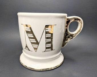 Golden Monogram Mug