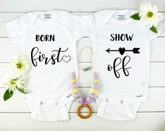 Twin Baby Announcement Onesies
