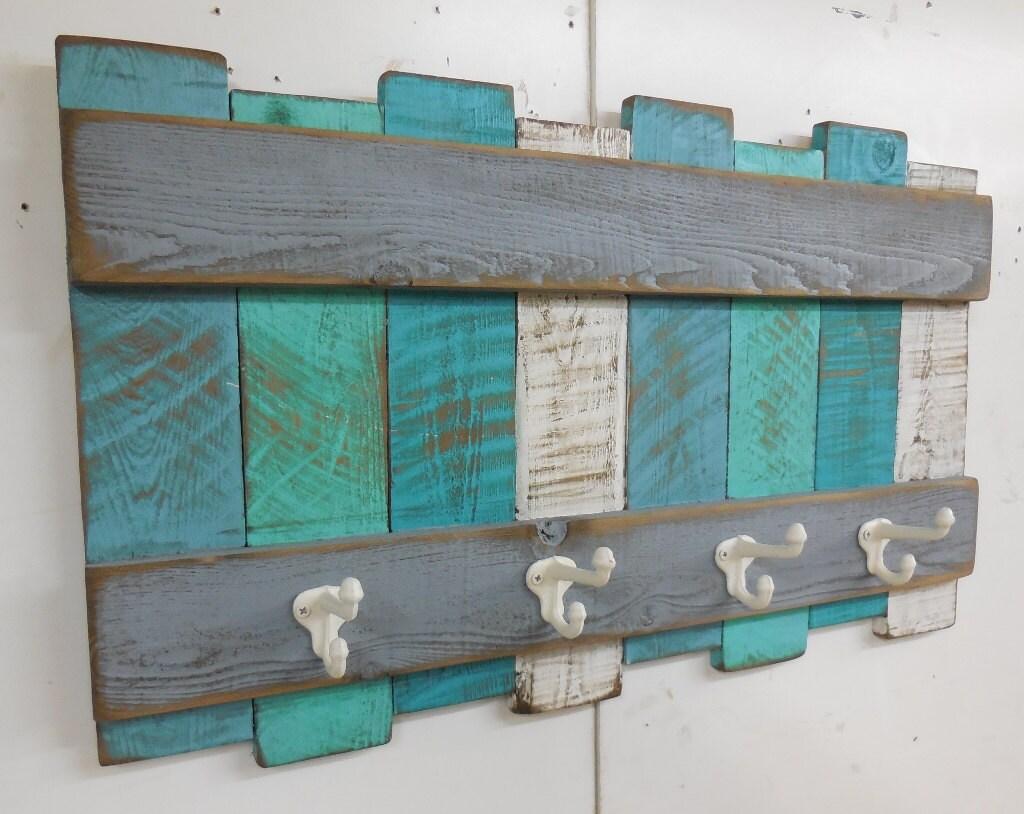Nautical Coat Rack Rustic Coastal Coat RackBeach Wall