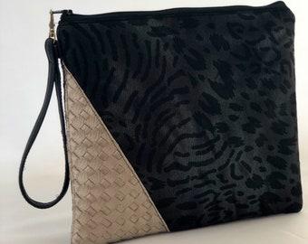 Clutch purse / Gift ideas / Stylish clutch / Woven faux leather clutch / Tashnabytash / Classy accessories for women