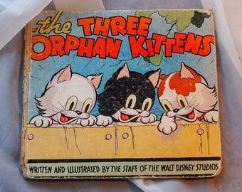 The Three Orphan Kittens 1930s Walt Disney Children's Book