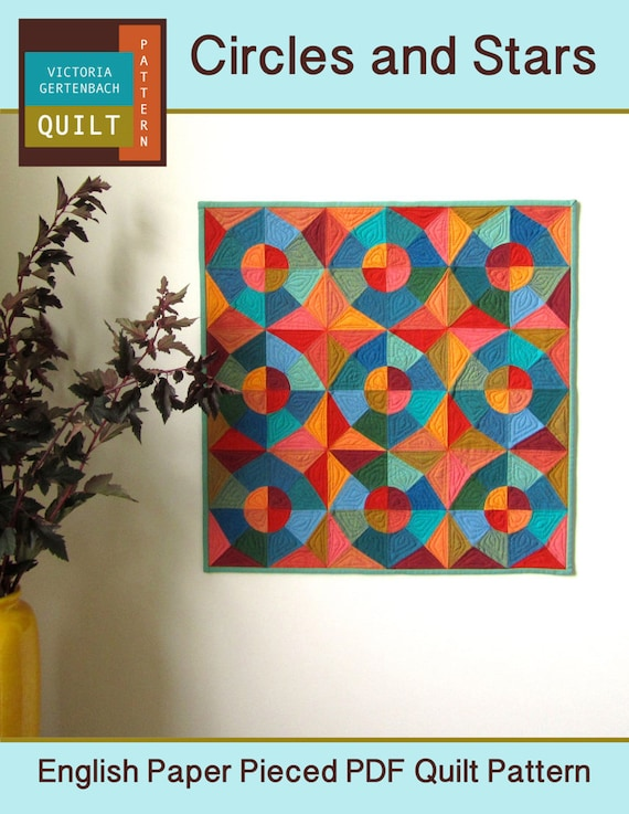 Pdf Quilt Pattern Circles And Stars English Paper Pieced