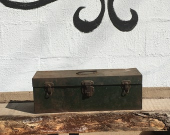 Vintage Metal Tool Box, Utility Chest, Union Steel File Chest, Vintage Metal Box, Storage Chest