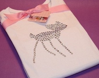 RUDOLPH SILOUETTE short sleeve rhinestud tee by Daisy Creek Designs