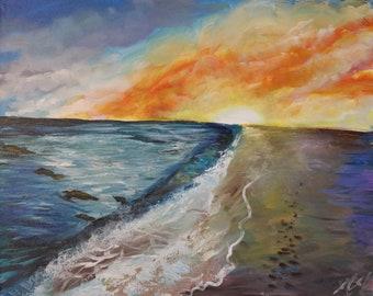 Happy Sunset (original art)