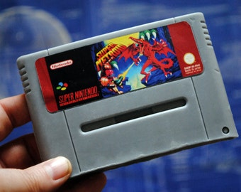 SNES PAL Super Metroid Cart parody Soap - Retro and geeky! Handmade cartridge soap - Super Metroid, Nintendo Cart, nerdy, geeky