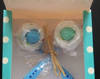 Covered lollipop baby Swaddle diaper cake baby gift baby shower