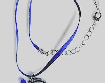 Blue Pisces Necklace