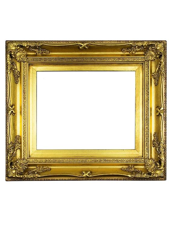 Vintage Wooden Frame Antique Gold Frame Ornate Picture Frame Wood ...