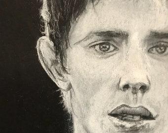 White Charcoal Portrait