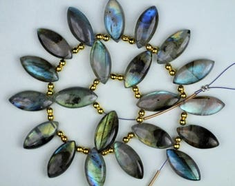 New Arrival, 10 piece smooth LABRADORITE Marquise briolette beads 4 x 9 x 18 mm approx