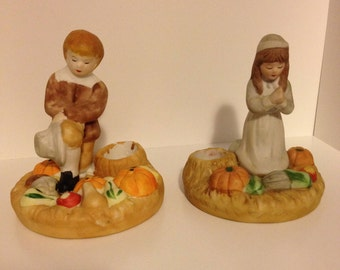 Vintage Thanksgiving Candle Holders|Thanksgiving Table Decor