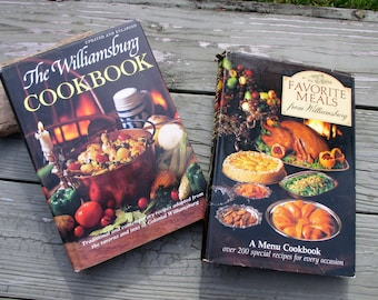 The Williamsburg Cookbook and Favorite Meals from WIlliamsburg Cookbooks