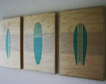 THE QUIVER - Wood Prints | Surf Art | Wall Art | Beach Decor