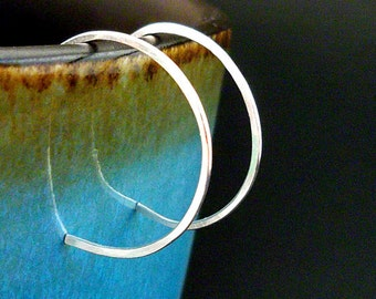 Sterling Silver Hoop Earrings, Small Hoop Earrings