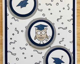 Graduation Card | Handmade Card | Congratulations | Owl | Graduate