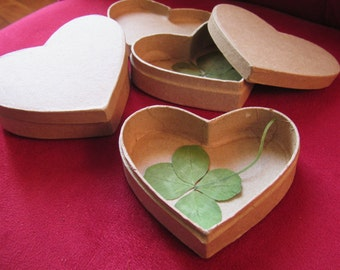 an original gift: a real in a 4 leaf clover box heart!