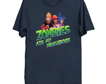 Save The Neighbors T-shirt - Zombies ate my neighbors t-shirt - Zombies t-shirt - Super nintendo shirt - Zombies ate my neighbors