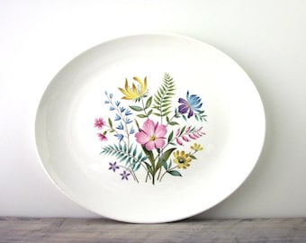 Large China Platter with Floral Design