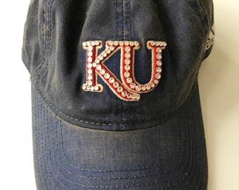 University of Kansas Swarovski Crystal Hat