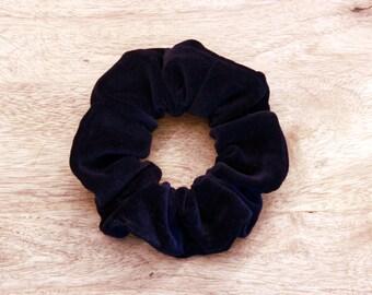 Velvet scrunchie, hair accessory, comfortable fabric, hair tie, navu blue scrunchie, fashion accessory, hair elastic