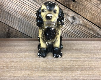 Chalkware Dog Figurine
