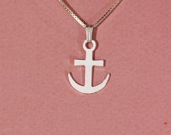 Anchor necklace nautical necklace you are my anchor hope necklace anchor pendant