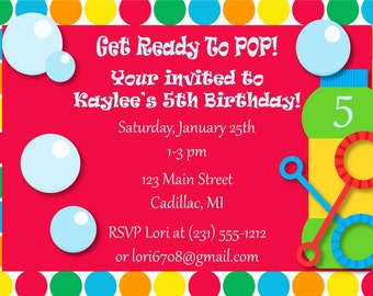 Kids Invitation, Kids Birthday Invitation, Kids Birthday Party Printables