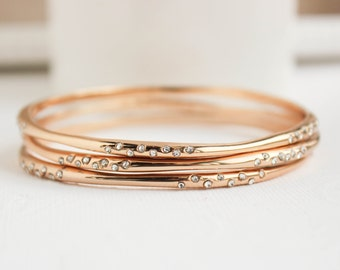 Gold Bangles, Gold Bracelet, Gold Jewelry, Everyday Jewelry