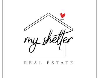 Home Logo Design House Real Estate Realtor Company Premade
